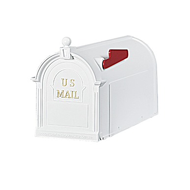 The Ambrose - White - by Postal Pro Mailboxes